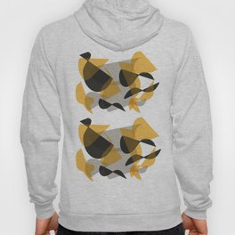 Abstract Black and Yellow Hoody