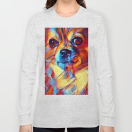Chihuahua Watercolor Long Sleeve T-shirt