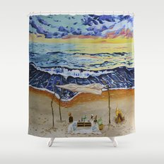 The Invitation Shower Curtain