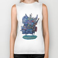 fandom Biker Tanks featuring Fandom Moving Castle by nokeek