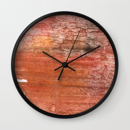 Sienna colored watercolor Wall Clock