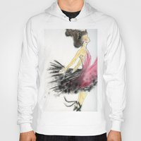 dance Hoodies featuring Dance by Natalie Woo artwork