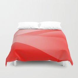 Red Wallpaper Duvet Cover