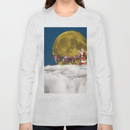 Santa and His Sleigh Long Sleeve T-shirt