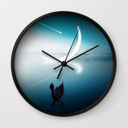 Close to the moon Wall Clock