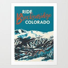 Ride Breckenridge Vintage Poster Art Print