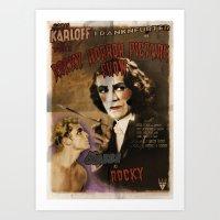 Alternate Reality 1940's Rocky Horror Movie Poster Art Print