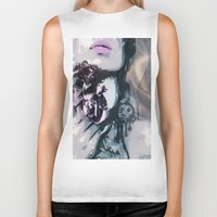 romantic Biker Tanks featuring romantic by Ezgi Kaya