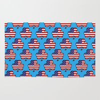 patriots Area & Throw Rugs featuring American Shamrock by The Wellington Boot