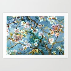 Fantasy cherry blossom tree Art Print
