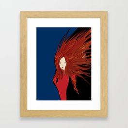Fire Woman Framed Art Print