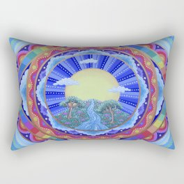 Beautiful World Mandala Rectangular Pillow
