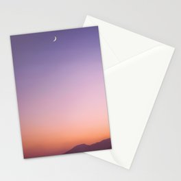 Moon at sunset, Naxos, Greece Stationery Cards