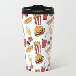 Fast Food Pattern Travel Mug