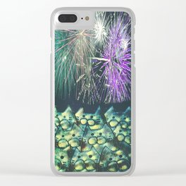 fireworks display cats 491 Clear iPhone Case