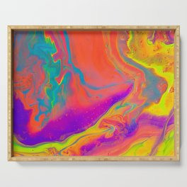 Psychedelic dream Serving Tray