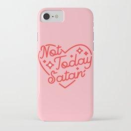 not today satan II iPhone Case
