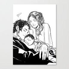 Loving Family Canvas Print
