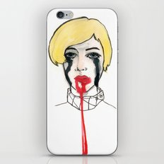 Pain - the look when you are mentally stress out - to death. iPhone & iPod Skin