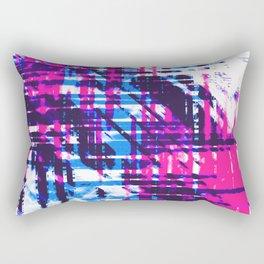 Aesthetic Urban Abstract Visual Art Retro Night Party Rectangular Pillow