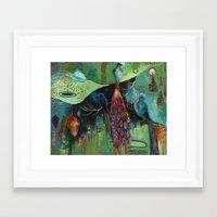 "flora bowley Framed Art Prints featuring ""Light Trio"" Original Painting by Flora Bowley by Flora Bowley"