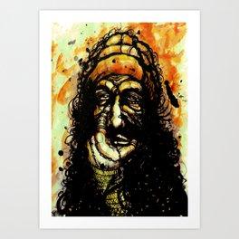 The oil curse Art Print