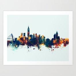 Taipei Taiwan Skyline Art Print