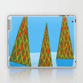 Three Modern Christmas Trees in the Snow Laptop & iPad Skin