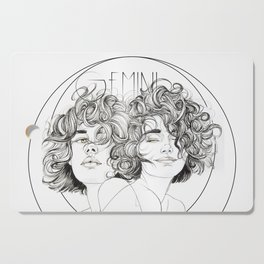 Gemini Zodiac (The Twins) Cutting Board