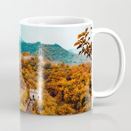 The Great Wall of China in Autumn (Color) Coffee Mug