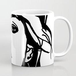 Black and White Fashion Face Art  Coffee Mug