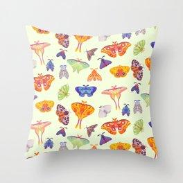 Moth - pastel Throw Pillow