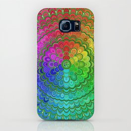 Rainbow Flower Mandala iPhone Case