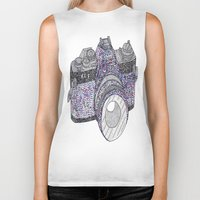 camera Biker Tanks featuring camera by smurfmonster