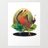robin hood Art Prints featuring Robin Hood by steeledart