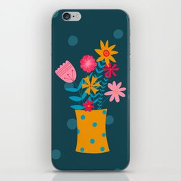 Spotty Flowers iPhone Skin