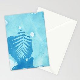 Aqua Marble Palm Stationery Cards