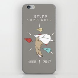Never Surrender iPhone Skin