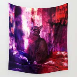 The Sunkissed Abyssinan Cat from Planet Kitarus Wall Tapestry