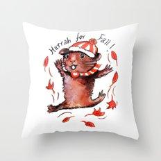 Fall Guinea Pig Throw Pillow