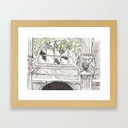city detail Framed Art Print