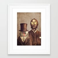 victorian Framed Art Prints featuring Victorian Robots  by Terry Fan