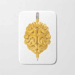 Pencil Brain Bath Mat