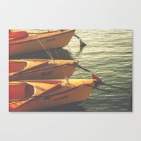 boats Canvas Prints featuring Boats by Sharon RG Photography