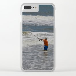 Fisherman and the Sea Clear iPhone Case
