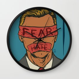 The Fear Hate Factor Wall Clock