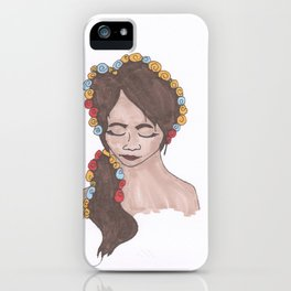 """Flowers on my Head"" iPhone Case"