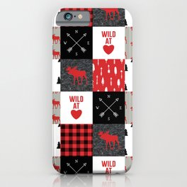 Wild At Heart Lumberjack Quilt Pattern iPhone Case