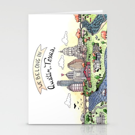 We Belong in Austin Stationery Cards