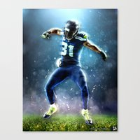 seahawks Canvas Prints featuring SEAHAWKS POWER by THEMAD3